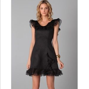 NWT Rachel Zoe Kiki Ruffle Dress - Black